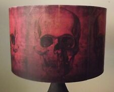 Red Skull Lampshade,light shade,Halloween , Gothic , industrial ,Free Gift
