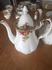 Royal Albert Old Country Roses  Coffee Pot 1962 England