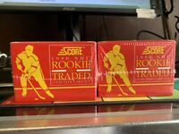 2- sets 1990 Score NHL Hockey Rookie & Traded 110 Card Set Sealed Vintage sealed