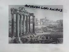 GRAVURE 1860 ITALIE ROME LE FORUM
