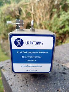 UK Antennas Portable Multi-band/ Half-wave 49:1 matching transformer.