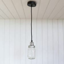 Glass Mason Jar Pendant Quirky Retro Ceiling Light Fitting Bedroom Kitchen