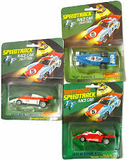 3pc 1977 Matchbox Speedtrack HO Slot Car INDY ELF F1 Marlboro M-26 FERRARI 312T2