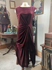 NWT Maison Tara Burgundy Velvet Dress. Retail $128