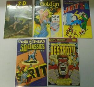 3-D Comic Lot 9 different issues 8.0 VF