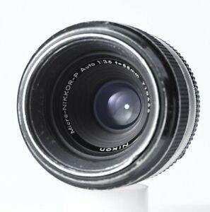 Nikon Micro-Nikkor 55mm f/3.5 prime lens EXC--- non AI F mount READ!