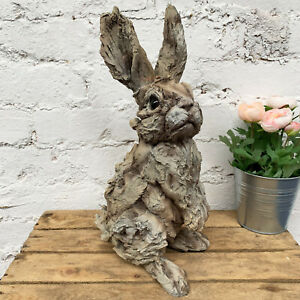 Vintage Outdoor Garden Statues Ornament Animal Hare Rabbit Sculpture Large 41cm