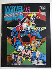 Marvel '93 Preview (March 1993) Magazine Spiderman X-Men Avengers (M838)