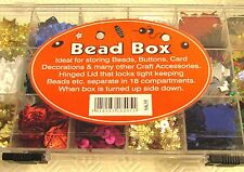 1  x 18 Grids Display Box Case For Loom Bands Beads Buttons Card Sequins Hinged