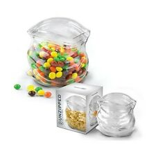 Fred & Friends UNZIPPED Glass Zipper Bag Kitchen Desk Candy Snack Container Jar