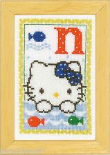 Vervaco  0149545  Kit  Alphabet © Hello Kitty - Lettre N  Point de Croix  Compté