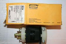 HUBBELL TWIST LOCK PLUG HBL2311 2P3W 20A 125V L5-20P Black & White Nylon