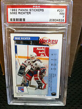 1992 Panini Stickers # 231 Mike Richter PSA NM-7
