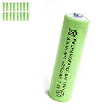 16 pcs AA 2A 3000mAh 1.2V Ni-MH rechargeable battery Solar Light MP3 Toy Green