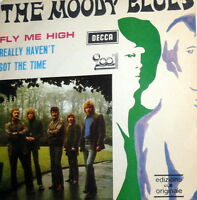 """PROMO  MOODY BLUES  ORIGINAL EDITION  7""""  ITALY  1970  FLY ME HIGH"""