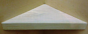 CORNER SHELF - Vintage style Solid Wood - WHITE COLOUR - 30cm wide