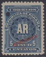 "PANAMA 1904 AR Sc H22 PERF PROOF + ""SPECIMEN"" MNH VF"