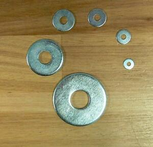 Washers Large 0 1/8/0 5/32/0 7/32in Galvanized, din 9021, Washer