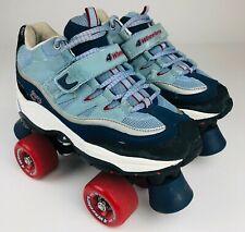 4 Wheeler Quad Style Roller Skates Blue Men's sz 6.5
