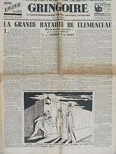 GRINGOIRE (8 juin 1939) Grande bataille de Clémenceau - Retour de Madrid