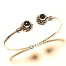Gemstone Handmade Fashion Jewelry R13 Black Onyx 925 Silver Overlay