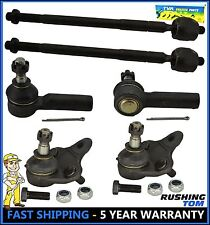 6 Pc Kit Front Inner Outer Tie Rod End Lower Ball Joint Toyota Corolla Geo Prizm