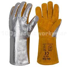 RHINOweld Heavy Duty Aluminised Welders Leather Welding Gauntlet Work Gloves New