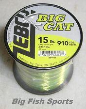Zebco Big Cat Mono Fishing Line 15lb-910yd 1/4Lb Spool #Bcat15Q