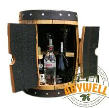 Oak Barrel MINI DRINK CABINET_made & recycled from Scotch ex-Whiskey Barrel