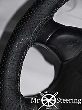 FOR NISSAN SILVIA S12 PERFORATED LEATHER STEERING WHEEL COVER GREY DOUBLE STITCH