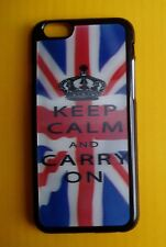 iPhone 6 CASE COVER - 3D Union Jack UK Flag - KEEP CALM and CARRY ON Crown - NEW
