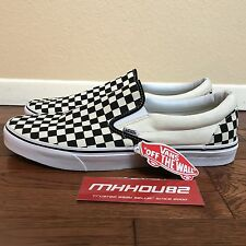 New Vans Classic Slip-On Checkerboard Check White Black Very Rare Size 15