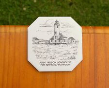 Point Wilson Lighthouse Port Townsend, Wa Tile Coaster Sunflower Creations Or