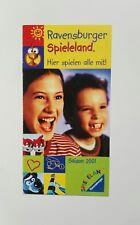Freizeitpark - Ravensburger Spieleland - Faltprospekt - 2001