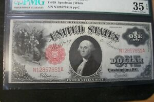 1917 $1 ONE DOLLAR RED SEAL MS 35 Exceptional paper