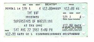 Vintage Aug 22 1987 WWF Superstars of Wrestling at the Omni Atlanta GA Ticket
