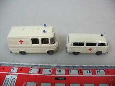 h352-0, 5 #2x Wiking H0 278 Mercedes MB L 406, 320 Volkswagen T2, Ambulance