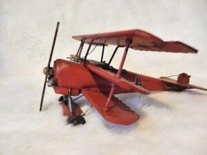 Vintage Metal Red Baron Fokker Dr1 Dreidecker Tri-Plane