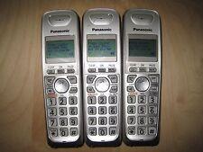 Lot of 3 Panasonic Kx-Tga402 1.9 Ghz Cordless Expansion Handset Phone