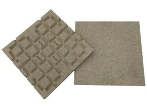 Dflect Rubber Tiles - Sand - 400mm - Interlocking - Play Areas - Terraces