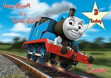 Personalised birthday card Thomas the Tank  any age son grandson daughter d