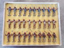 TRES RARE BOITE COMPLETE LUCOTTE VERS 1905 POUR 30 INDIENS MOHICANS CBG MIGNOT