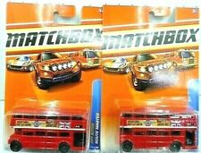 Matchbox 2010 City Action Route Master Bus Diecast Car Lot of 2: New In Package