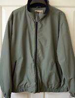 Woolrich Mens 2XL Fleece Lined Nylon Green Jacket Zip-Up