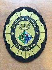 SPAIN CHEST PATCH POLICE DELTEBRE ( CATALONIA - TARRRAGONA Prov.) ORIGINAL