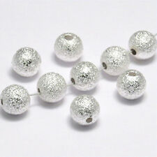 Lot of 20 round beads 8mm metal Silver plated