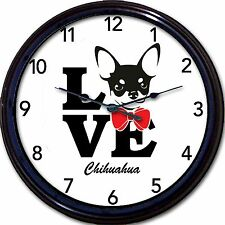 Chihuahua Dog Love Wall Clock Canine Dogs New 10""