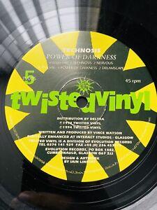 Technosis Power Of Darkness Rare Hardcore Gabber Twisted Vinyl Record.