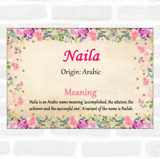 Naila Name Meaning Floral Certificate