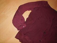 Zero Edel Bluse XL 44 stretchig Bordeaux Rot wNEU Ungetragen